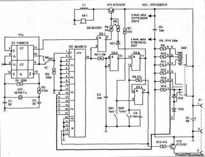 схем простых электронных
