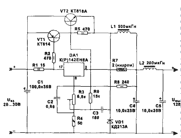 Схема стабилизатора тока на кренке