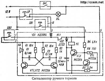 Схема его подключения показана