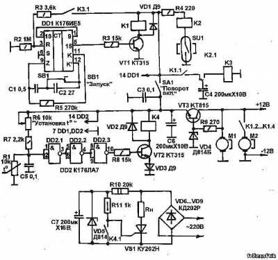 Схема управления инкубатором